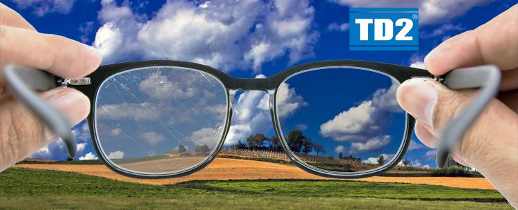 171efae9808b6 Essilor TD2 Anti-scratch coating. Scratched lenses ...